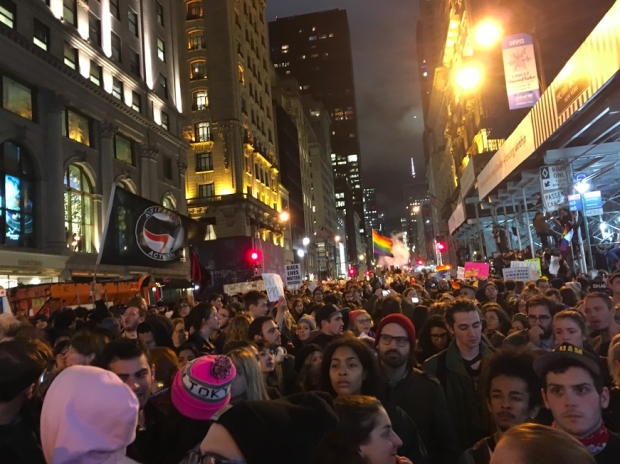 A look at the NYC protest, as captured by senior drama student Adriana Georgiu